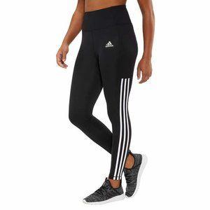 adidas Ladies' 7/8 3-Stripe Black Active Tight